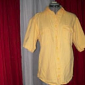 Faded Glory Yellow Button Up Shirt
